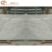 Bookmatched White Statuary Marble Slab for Wall Hanging Design