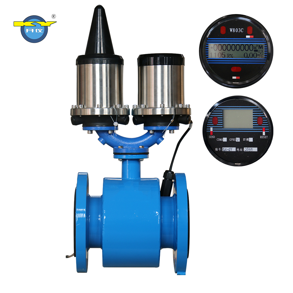 KY E-mag GSM SMS IP/TCP Wireless Monitor Water Flow Meter Flowmeter