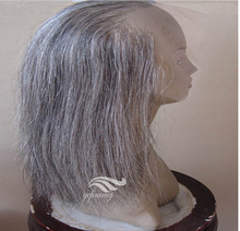 Hot Selling Human Hair Mixed Grey Brazilian Full Lace Wig