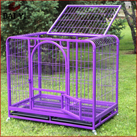 Outdoor Stainless Steel Square Tube Single Door Dog Cage