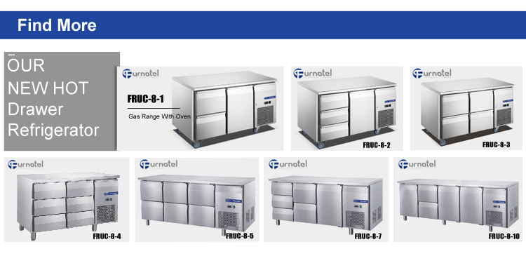 FURNOTEL Luxury Drawer Refrigerator Price List 1-Door 2-Drawer Under Counter Refrigerator FRUC-8-1