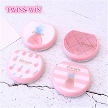 2019 hot selling new style pink pineapple Contact lens box 384