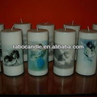white church oil candles