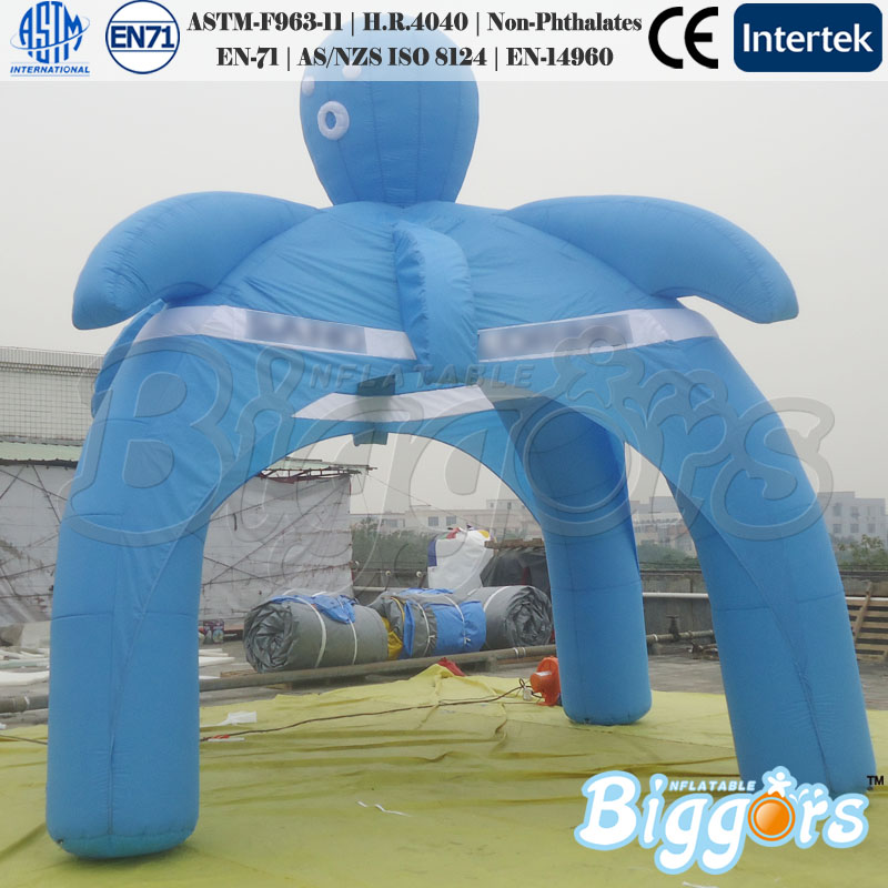 New Style Blue Inflatable Small Octopus Tent Advertising Tents For Sale