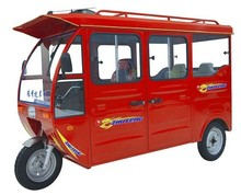 5 seater use battery encolsed electric tuk tuk adult passenger tricycle car DG4A