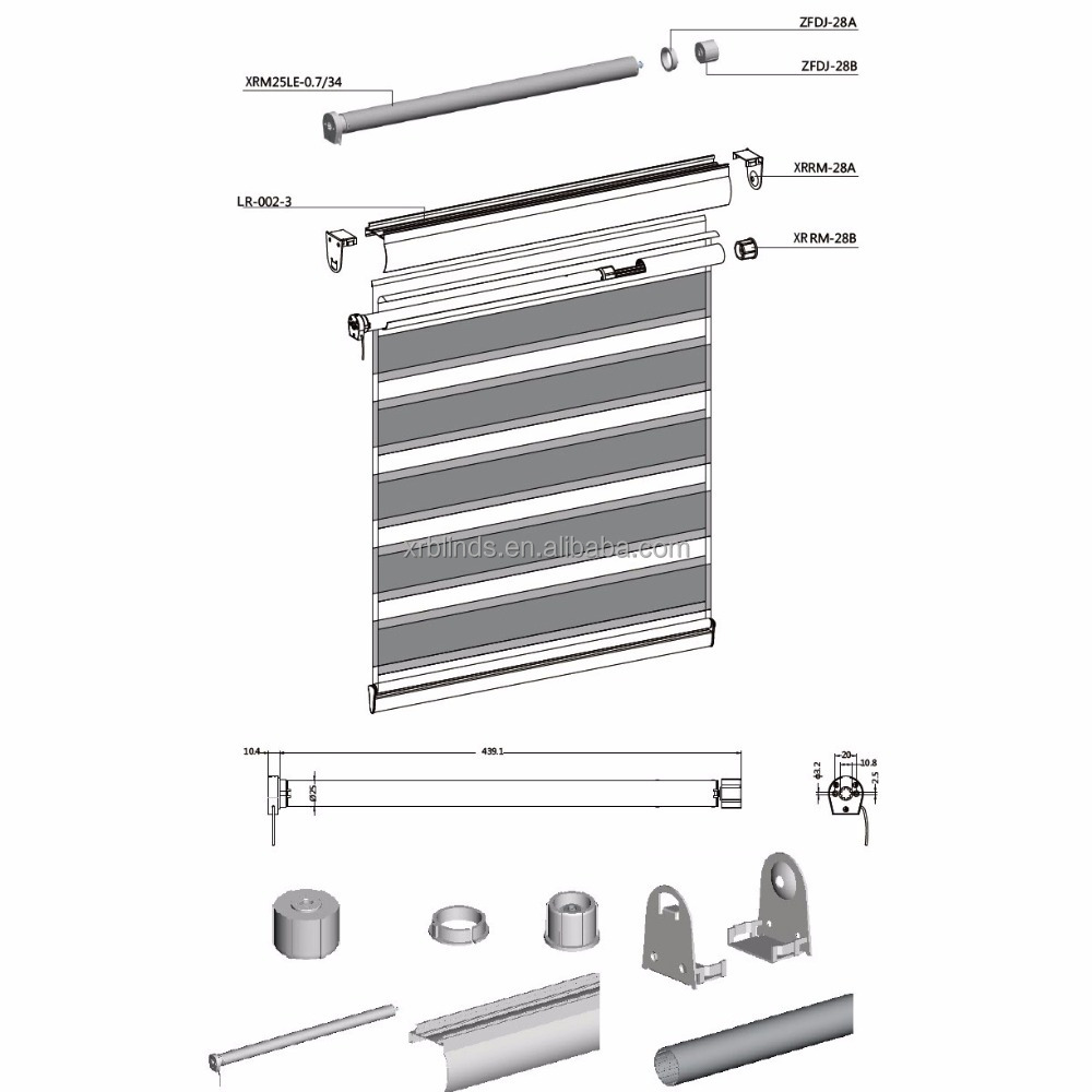 automatic modern latest technology Easy to operate Eco-Friendly superior materials roller blind side tracks