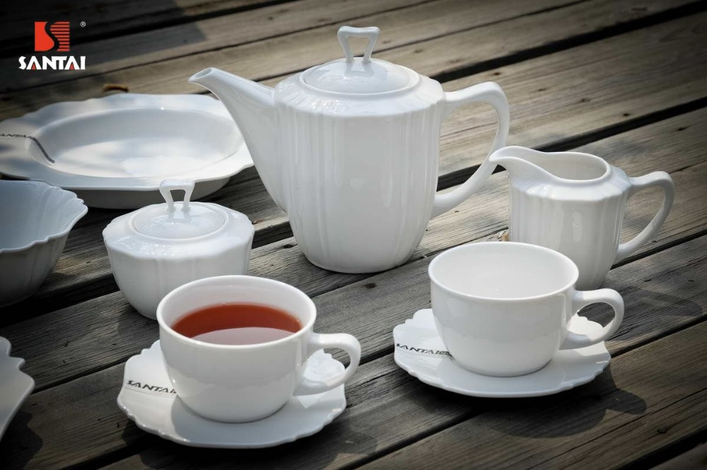 Cheap tea and coffee sets Grace tea ware for hotel ,restaurant and home