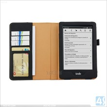 mix colors for choice for Amazon kindle Voyage leather case cover with wallet and card slot