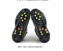 hot sale 10 SPIKES Anti-slip Silicone Non-Slip Rubber Shoe Covers snow grabbers