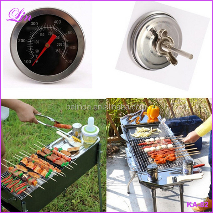 Cooking Food Probe Kitchen Tool BBQ Accessories Grill Dial Gauge Gage Meat Thermometer