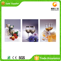 Zhejiang factory supply dining room wall decor art 3d diy diamond abstract fabric painting designs