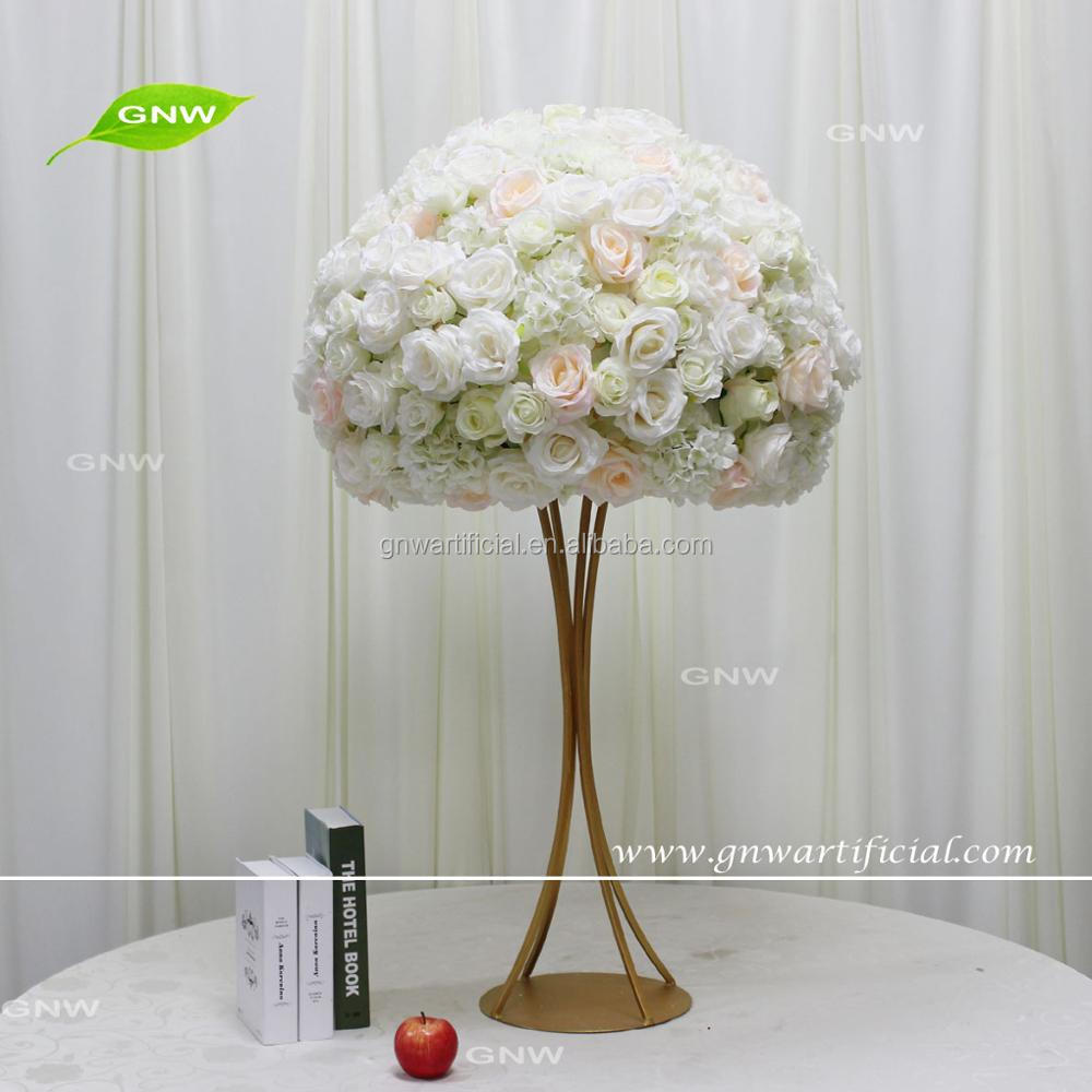 GNW CTRA-1705021 New design artificial floral stand metal table centerpiece