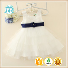 2015 white and pink baby ruffles dress simple dress fancy frock design for girl