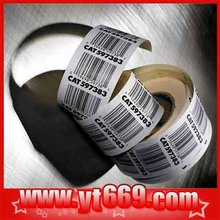 Highly used security adhesive stickers roll with barcode