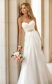 IA16200 Aliexpress customerized sweet-heart neckline lace up chiffon wedding gown