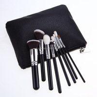 YMC cosmetic 8 pcs makeup brush set PU leather case