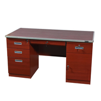 Company stuff working desk high quality modern lock computer table furniture office desk