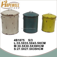 metal cylinder container with lid , cheap bucket wholesale