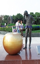 Modern life size Human Copper Sculpture for Garden decoration