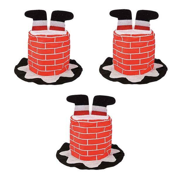 Party Supplies Chimney Santa Hat