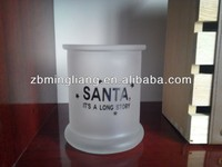 Hanging glass candle jar with logo printing