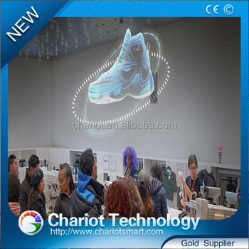 Chariot best quality 3d led advertising display fan with long using life
