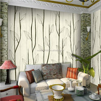 Home wallpaper simple tree design wallpaper PVC wall papers for hotel/coffee/bar/home interior