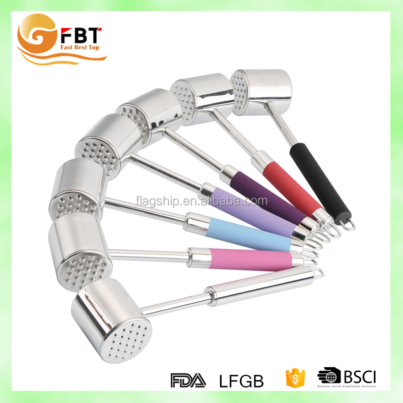 High quality colorful beef steak stainless steel tenderizer as seen on tv