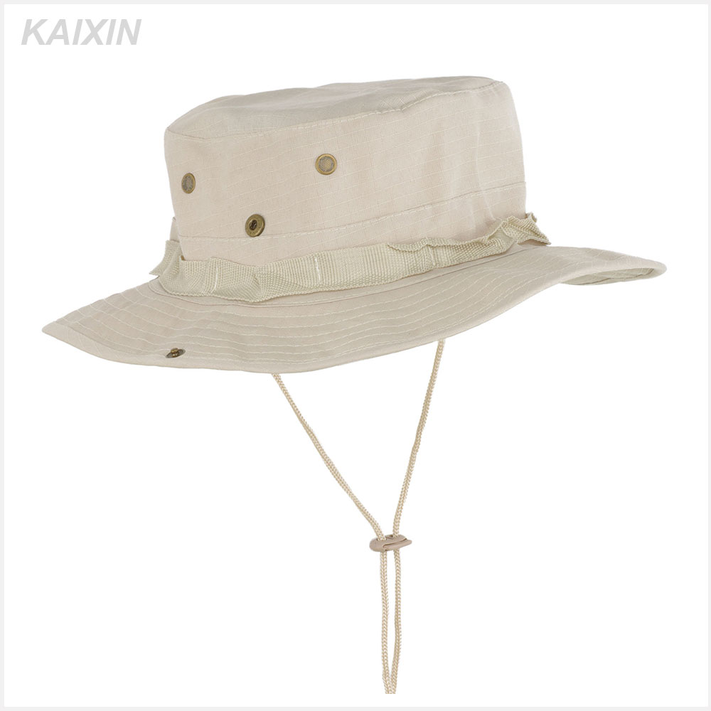 wholesale men string boonie fishing cap military bucket hat custom color
