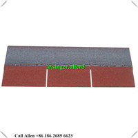 hot sale 3 tab red asphalt shingles / cheap asphalt shingles with the best price