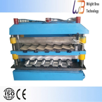 double deck roof tile roll forming machine