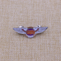 custom metal pilot wings pin badge with best quality