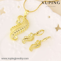 61365 xuping jewellery display popular women fine gold jewelry set