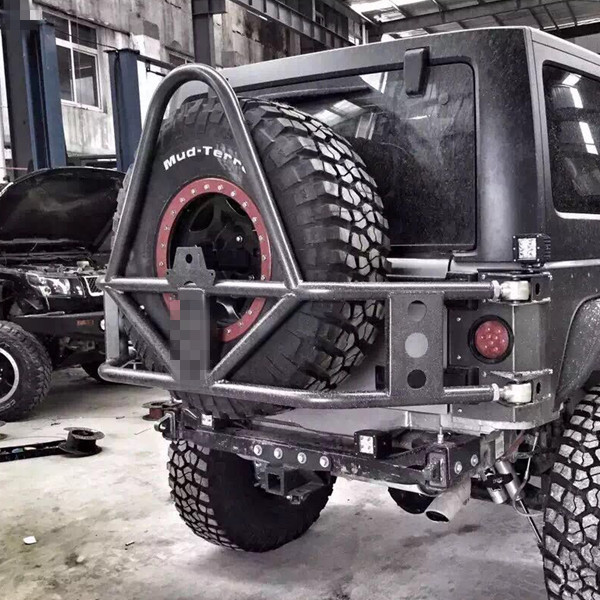 Jeep Jk Wrangler HD Hinged Carrier & Adjustable Spare Tire Mounting Kit