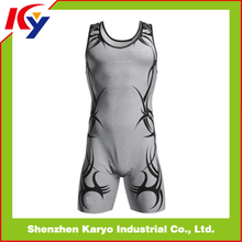 Camo sublimated custom wrestling singlets for women