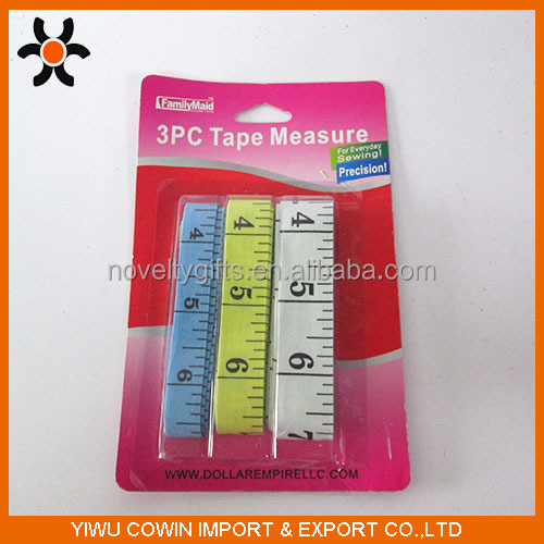 3 size pu leather tape,tape measure with inch and cm