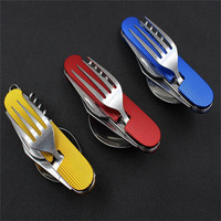 Portable Stainless Steel Tableware Camping Picnic Cutlery