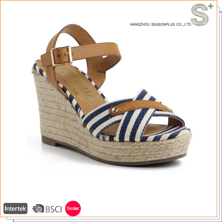 2016 latest fashion espadrilles women wedge sandals shoes