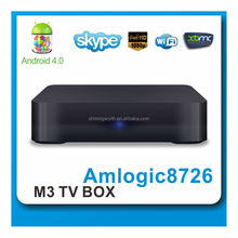 linux tv box Amlogic AML8726-M3 Android 4.0 hd 1080P tv box