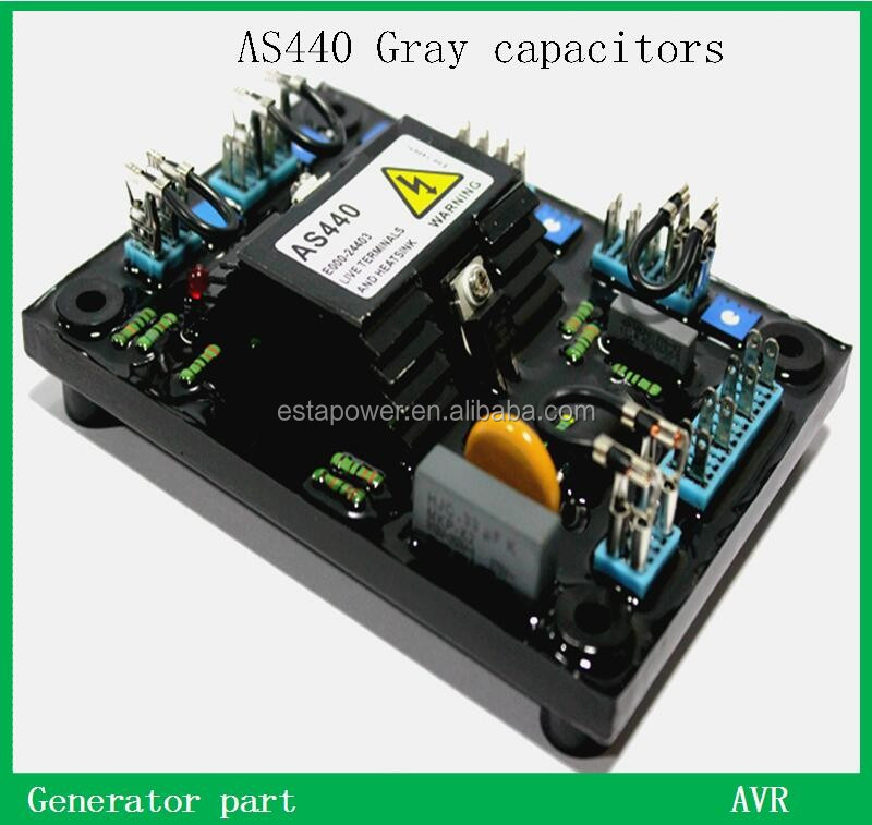3 phase AC Generator AVR AS440 gray capacitors