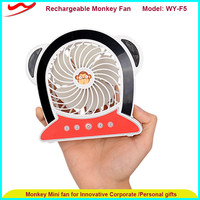 Monkey fan, new rechargeable portable usb personal dc fan good for outdoor or student