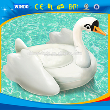 Factory 2016 Newest Giant Inflatable Swan float ride-on Pool toy hot sale stock large swan for pool float for party decorat