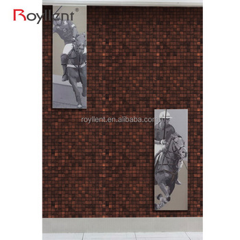 Royllent metal wall art hotel home room decor 3d wall stickers