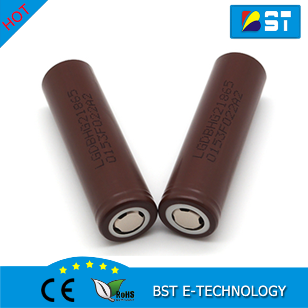 Original LG INR Rechargeable Battery 18650 LG HG2 High Drain 20A 3000mAh BROWN