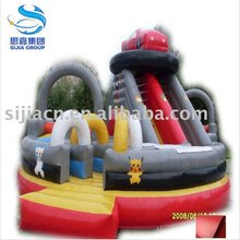 flame retardant 18OZ PVC inflatable vinyl material used for bouncy castle , inflatable funland material
