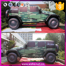 Hot sell camouflage jeep car inflatable replicas for outdoor display