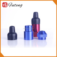 Futeng FT-031 MINI electric herb metal pipe Aluminum nipple smoking pipe for tobacco