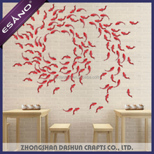 High quality banquet red color fish type hall wall decoration