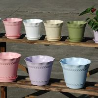 Round Plastic Plant Flower Pot Home