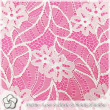 French swiss nylon spandex lace fabric crocheted lace fabric
